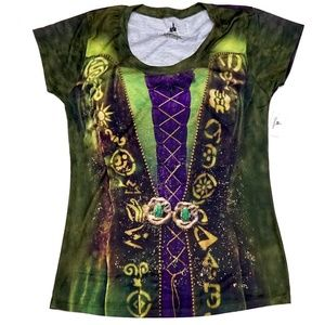 Disney Hocus Pocus Winifred Sanderson Costume Shir